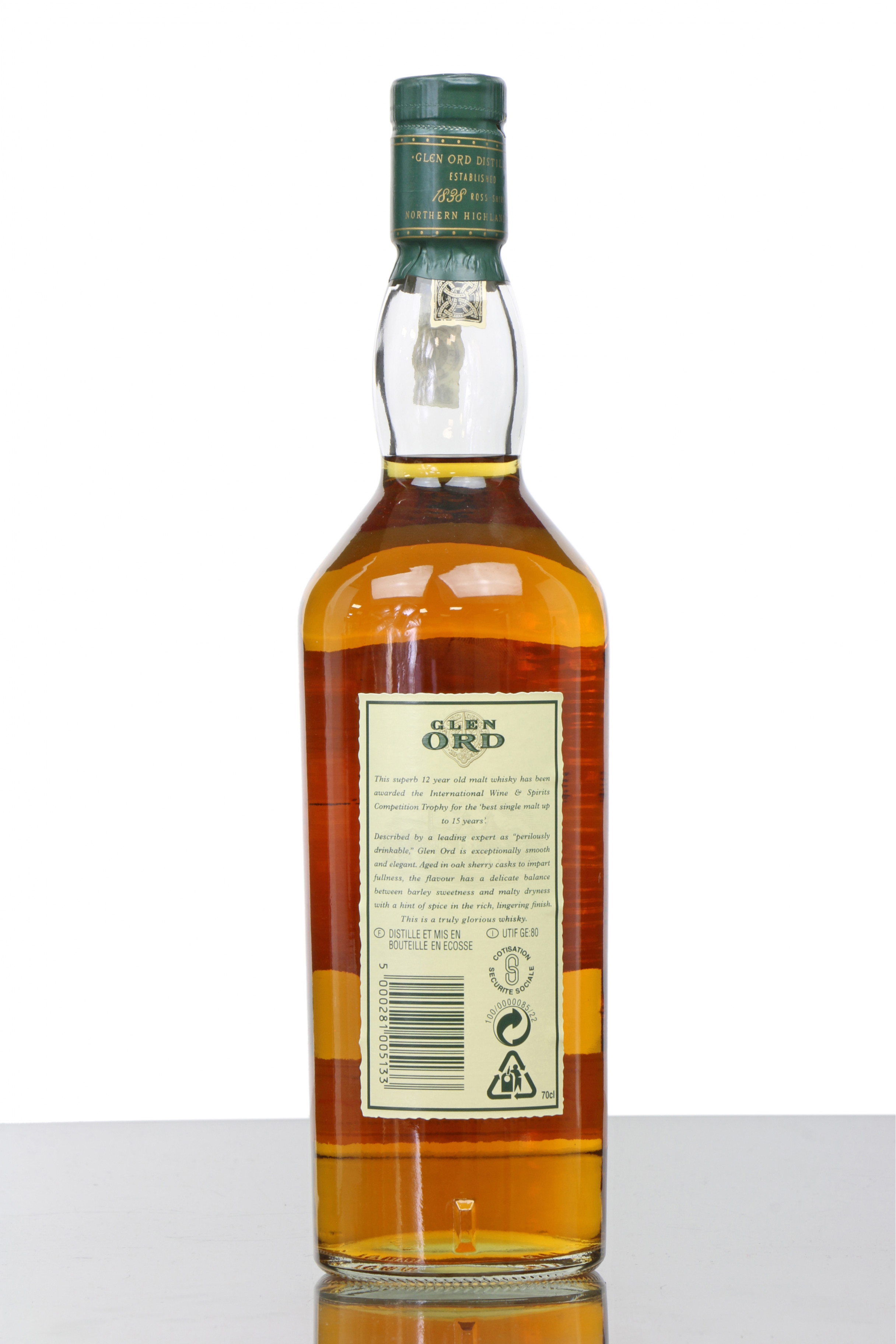 Singleton of Glen Ord 18 Year Old Single Malt Scotch