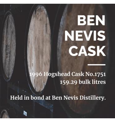 Ben Nevis 1996 Hogshead Cask No.1751 - Held In Bond At Ben Nevis Distillery