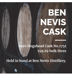 Ben Nevis 1996 Hogshead Cask No.1751 - Held In Bond At Ben Nevis Distillery