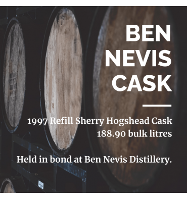 Ben Nevis 1997 Refill Sherry Hogshead Cask No.32 - Held In Bond At Ben Nevis Distillery