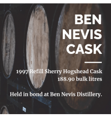 Ben Nevis 1997 Refill Sherry Hogshead Cask No.32 - Held In Bond At Ben Nevis Distillery