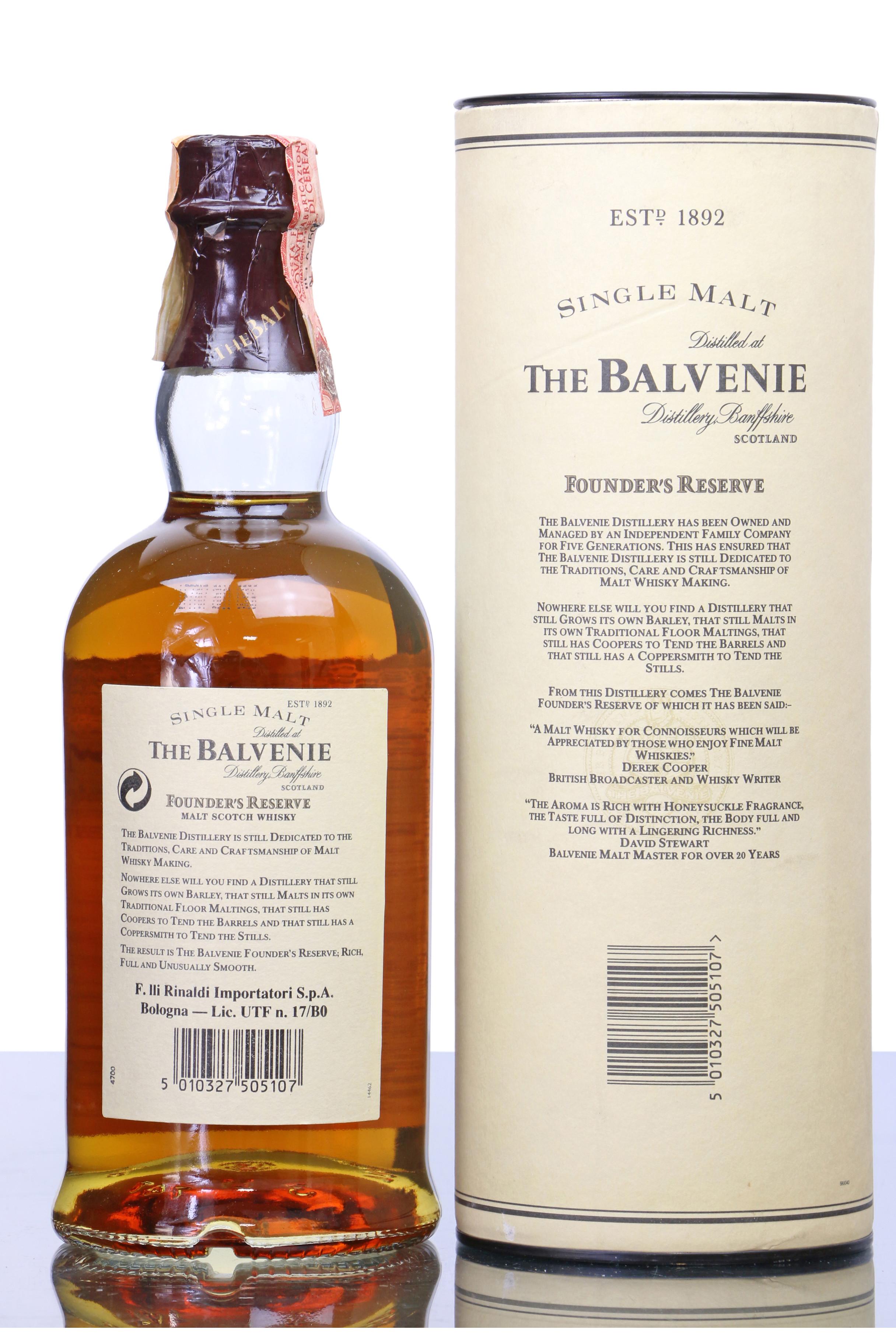 Balvenie single malt founders reserve