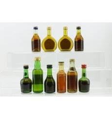 Brandy & Cognac Miniatures x 10 - Incl Martell 3 Star
