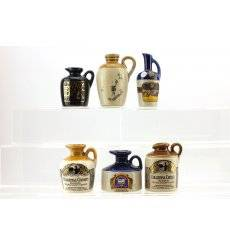 Assorted Ceramic Miniatures x 6
