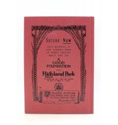 Highland Park Collectable Book - A Good Foundation