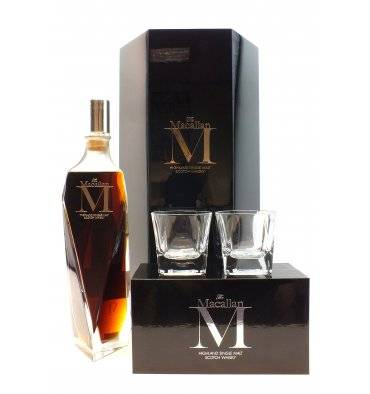 Macallan M - 1824 Series & 2 x M Glasses