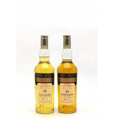 Hillside 25 Years Old 1969 & Mortlach 22 Years Old 1972 Rare Malts 2x20cl
