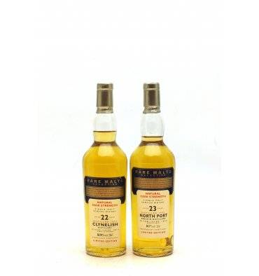 Clynelish 22 Years Old 1972 & North Port 23 Years Old 1971 Rare Malts 2 x 20cl