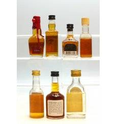 Assorted Bourbon Miniatures x 7