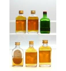 Assorted Miniatures Flat Bottles x6