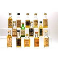 Assorted Miniatures x14 - incl Glenturret 100° Proof