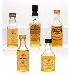 Assorted Miniatures x5 - Incl J&B Knockando 1973