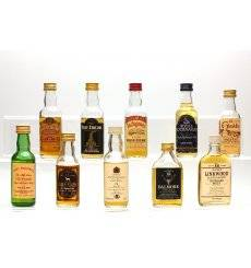 Assorted Miniatures x10 - Incl Linkwood 12 (Flat Bottle)