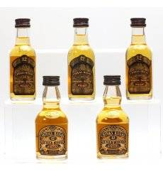 Chivas Regal 12 Years Old Miniatures x5