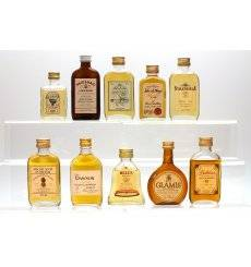 Assorted Flat Bottle Miniatures x10 - Incl Strathisla 8