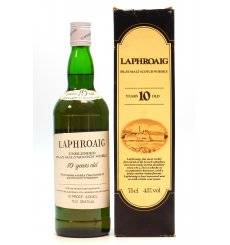 Laphroaig 10 Years Old 'Unblended' - Pre Royal Warrant