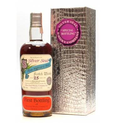 Macallan 25 Years Old 1976 - Silver Seal First Bottling