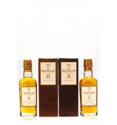 Macallan 10 & 12 Years Old Miniatures (2x 5cl)