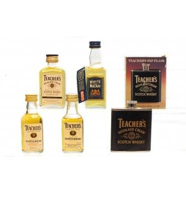 Assorted Blended Miniatures X4 With Teachers Hip Flask