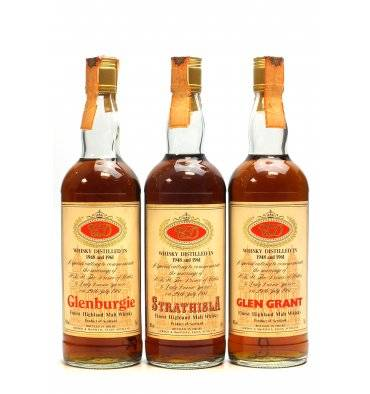 Glenburgie, Glen Grant & Strathisla 1948 & 1961 - G&M Royal Marriage (75cl x3)