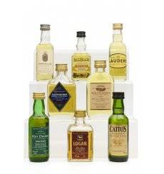 Assorted Miniatures x8 - Incl Old Pulteney 8 (Flat Bottle)