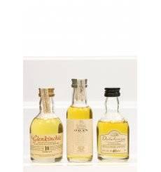 Oban 14, Glenkinchie 10 & Dalwhinnie 15 - Miniatures x3