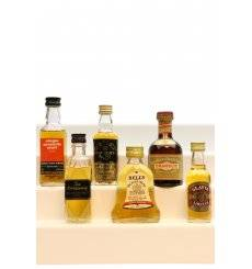 Assorted Miniatures x6 - Incl Drambuie 70° Proof