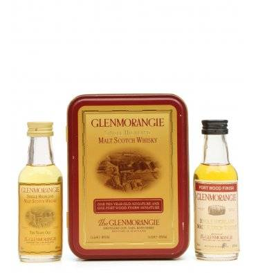 Glenmorangie 10 & Port Wood Miniatures x2 with Tin
