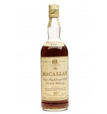 Macallan 1959 - 80° Proof - Campbell Hope & King