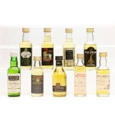 Assorted Miniatures x9 - Incl Highland Park 12