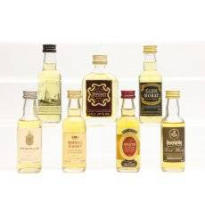 Assorted Miniatures x7 - Incl Old Pulteney 12