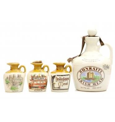 Bunratty Irish Mead & 3x Lindisfarne Ceramic Flagons