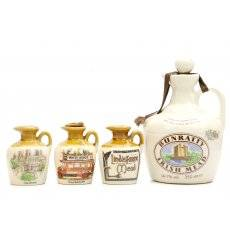 Bunratty Irish Mead & 3x Lindisfarne Ceramic Flagons