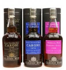 Caroni X3 incl Caroni 1974 - 2008 Bristol Classic Rum