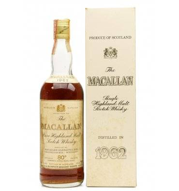 Macallan 1962 - 80 Proof