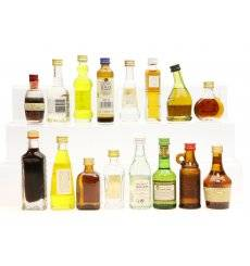 Assorted Miniatures X 16 (Non Whisky)