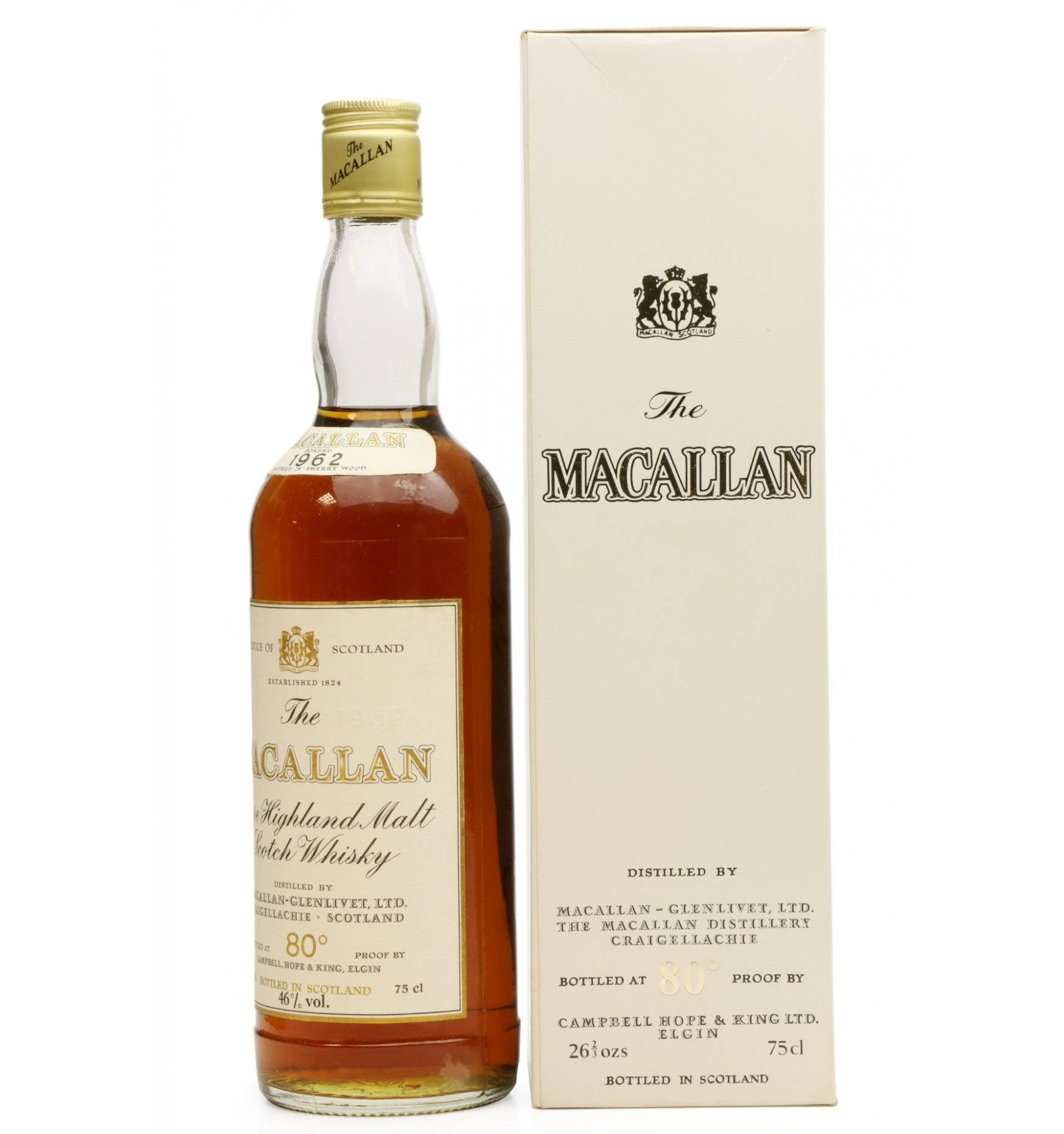 Macallan 1962 - 80° Proof - Campbell Hope & King - Just Whisky Auctions