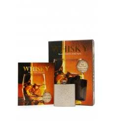 Stainless Steel Hip Flask & Whisky Book Gift Set