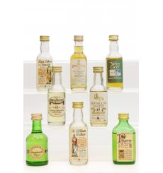 Assorted Miniatures X8 Incl Glenturret 10 Years Old - High Proof
