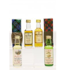 Assorted Miniatures X4 Incl MacPhail's 10 Years Old