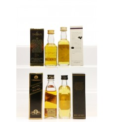 Assorted Miniatures X4 Incl Glen Garioch 12 Years Old