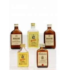 Flat Bottling Miniatures X5