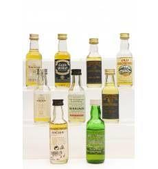 Assorted Miniatures X9 Incl Oban 14 Years Old