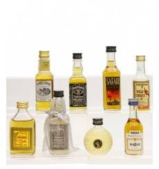 Assorted Miniatures X8 Incl Jack Daniel's Old No.7