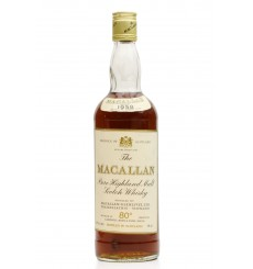 Macallan 1958 - 80° Proof - Campbell, Hope & King