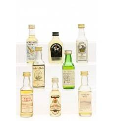 Assorted Miniatures X8 Incl Talisker 10 Years Old