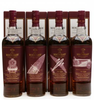 Macallan Whisky Maker's Edition - Classic Travel Range by Nick Veasay (4x 70cl)