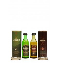 Glenfiddich 12 & 15 Years Old - Miniatures x2
