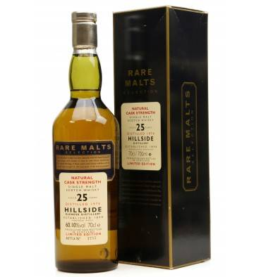 Hillside 25 Years Old 1970 - Rare Malts