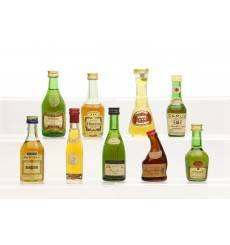 Assorted Cognac Miniatures x9